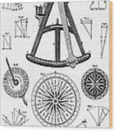 Navigational Instruments, E.g. Sextant Wood Print
