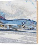 Navy Aircraft Wood Print