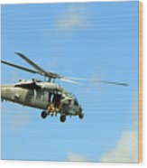 Navy Helicopter Wood Print