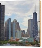 Navy Pier Chicago Illinois Wood Print