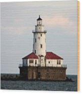 Navy Pier Lighthouse 2 Wood Print