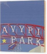 Navy Pier Wood Print