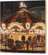 Navy Pier Merry-go-round Chicago Il Wood Print