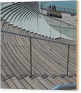 Navy Pier Stairs Wood Print
