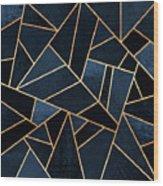 Navy Stone Wood Print