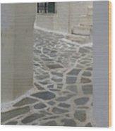 Naxos Path Wood Print