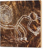 Nazca Monkey Wood Print