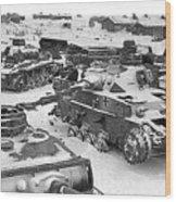 Nazi Tanks On The Outskirts Of Stalingrad 1942 Wood Print