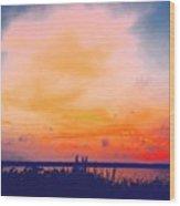 Southcoast Sunset Wood Print