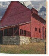 Nc Red Barn Wood Print