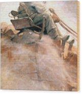 N.c. Wyeth: Ore Wagon Wood Print