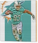 Ndamukong Suh Miami Dolphins Oil Art Wood Print