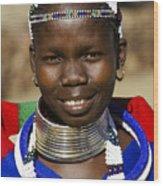 Ndebele Maiden Wood Print