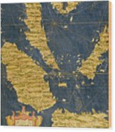 Indochinese Peninsula And Major Islands Of Indonesia Wood Print