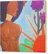 Nduku The Nigerian Beauty And Hummingbird Wood Print