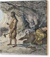Neanderthal Man Wood Print
