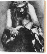 Neanderthal Woman Wood Print