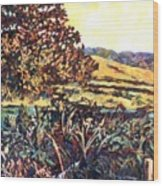 Near Childress Wood Print