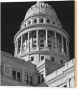 Near Infrared Image Of The Texas State Capitol Wood Print