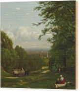 Near Leeds, New York Wood Print