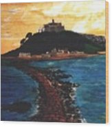 Near Penzance St. Michaels Mount Wood Print
