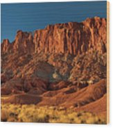 Near The Fluted Wall In Capitol Reef National Park Utah Wood Print