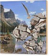 Near The Lake In The Mountain 2 Wood Print