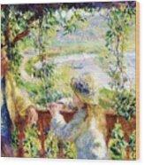 Near The Lake Wood Print