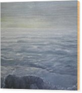 Near The Shoreline At Dusk Wood Print