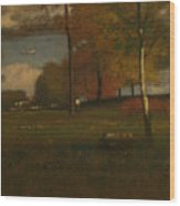 Near The Village, October Wood Print