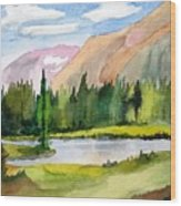 Near Two Medicine Montana Wood Print