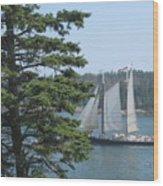 Nearing Burnt Coat Harbor Wood Print