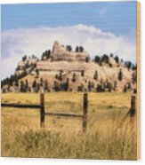 Nebraska Buttes Wood Print