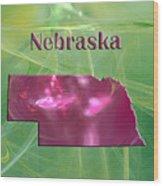 Nebraska Map Wood Print