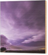 Nebraska Night Thunderstorms 007 Wood Print