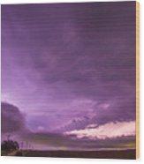Nebraska Night Thunderstorms 008 Wood Print