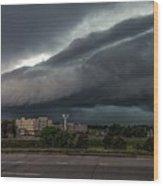 Nebraska Shelf Cloud 2 Wood Print