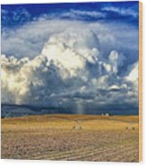 Nebraska Thunderhead Wood Print