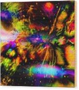 Nebula Collision Course Wood Print