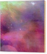 Nebula Light Wood Print