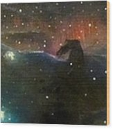 Nebula Triptych Wood Print by Alizey Khan