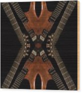 Necking Guitars Wood Print