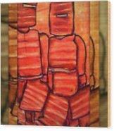 Ned Kelly Art - Sunset Killers Wood Print