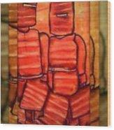 Ned Kelly Gang Art - Sunset Killers Wood Print by Joan Kamaru