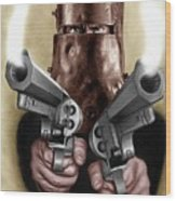 Ned Kelly Painting Wood Print