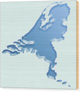 Nederland Waterland Wood Print