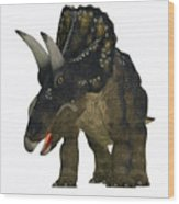 Nedoceratops On White Wood Print