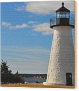 Neds Point Light Wood Print