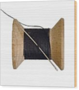 Needle And Thread Wood Print