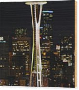 Needle At Night Wood Print
